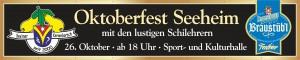 Seeheimer Oktoberfest DA BRAU Banner  500 x 80 cm 09-13